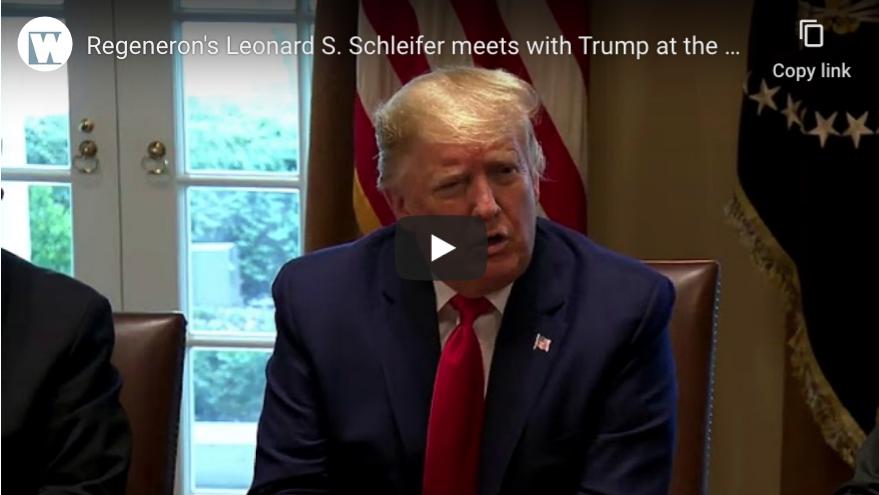 Trump meets with Regeneron CEO